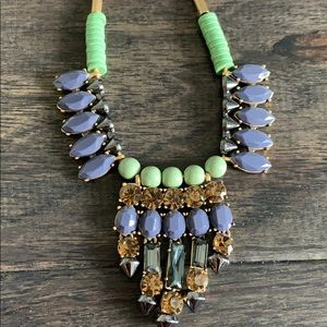 J. Crew Jewelry - J crew purple and free necklace